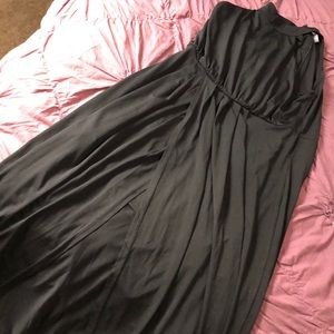 Black maxi with front slit